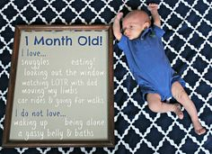 Monthly baby picture idea I like this idea for family updates.