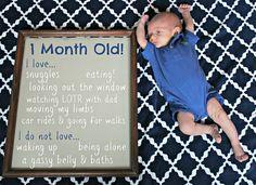 Monthly baby idea
