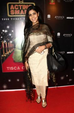 Sakshi Tanwar at the 'Acting Smart' success party  http://www.flipkart.com/acting-smart/p/itmdsu2jhtpsshmp?pid=9789351362036otracker=from-searchsrno=t_1query=acting+smart+by+tisca+chopraref=75af7a34-0e5c-4b73-8891-6c29cfaa72c4  http://www.amazon.com/Acting-Smart-Your-Ticket-Showbiz/dp/9351362035/ref=sr_1_1?ie=UTF8qid=1402991829sr=8-1keywords=acting+smart+by+tisca+chopra