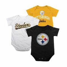 Pittsburgh Steelers 3-pk. Creepers - Baby