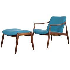 Hartmut Lohmeyer Teak Easy Chair with Ottoman by Wilkhahn 1