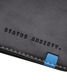 STATUS ANXIETY LEVI LEATHER WALLET - BLACK