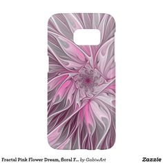 Fractal Pink Flower Dream, floral Fantasy Pattern Samsung Galaxy S7 Case