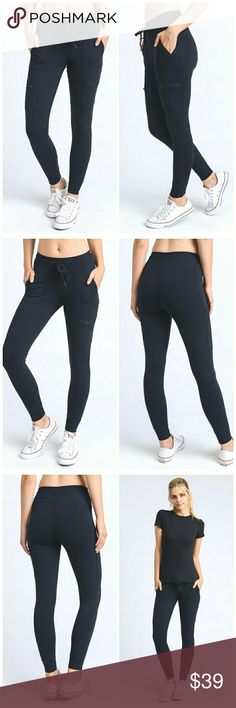 PRE ORDER NWT BLACK PANT LEGGINGS ❣I KNOW YOU CANT GET ENOUGH OF POCKETS AND I DONT BLAME YOU.   ❣ THESE FULL LENGTH ACTIVE BOTTOMS ARE THE PERFECT HYBRID OF CARGO PANTS AND LEGGINGS.    ❣ 88%polyamide 12% elastane. Pants Track Pants & Joggers
