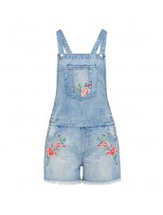 Taliyah embroidered Short Dungaree Back Image Forever New, Shop Forever, Dungarees, Overalls, Embroidered Shorts, Love Sewing, Overall Shorts, Fasion, Short Skirts