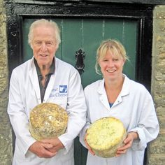Mike & Emily Davies - they make Dorset Blue Vinny