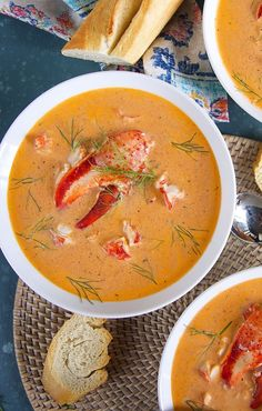 10 reviews · 60 minutes · Gluten free · Serves 6 · Lobster Bisque recipe so easy it's on the table in under an hour and is surprisingly inexpensive, too! | @suburbansoapbox #lobster #lobsterbisque #recipe #christmasrecipe #seafood #seafoodbisque… More