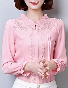 Cute pink lace tops ,need to try Kurta Designs, Blouse Designs, Beautiful Blouses, Beautiful Dresses, Fancy Tops, Blouse And Skirt, Blouse Patterns, Muslim Fashion, Blouse Styles