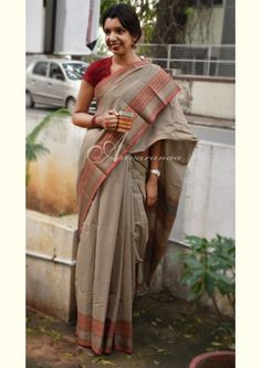 Beige Kanchi cotton