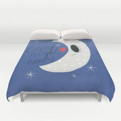 Items similar to Good Night Moon Duvet Cover Personalized Color - Full, Queen, King - Gift for her Him Bedding Bed Decor Modern Apartment, Blue Duvet on Etsy Blue Duvet, Good Night Moon, Modern Decor, Toy Chest, Storage Chest, Duvet Covers, Gifts For Her, Original Art, Kids Rugs