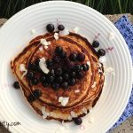 Lemon Protein Pancakes with Blueberries