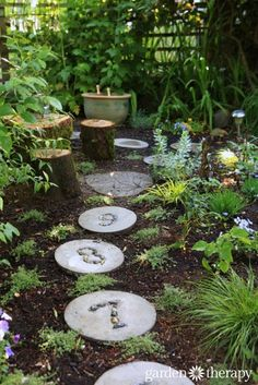 Come Visit a Play Garden! - numbered stepping stones