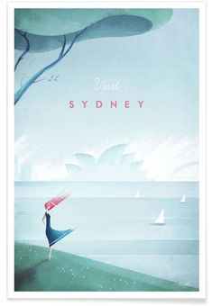 Sydney als Premium poster door Henry Rivers | JUNIQE