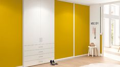 Let us create a custom fit space to match your storage needs, elegantly and bespokely crafted to suit your taste and style. Door Dividers, Build A Closet, Sliding Closet Doors, Grand Designs, Built In Wardrobe, Yellow Fabric, Interior Accessories, Fabric Panels, Contemporary Style