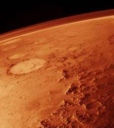 Atmosphere of Mars taken from low orbit