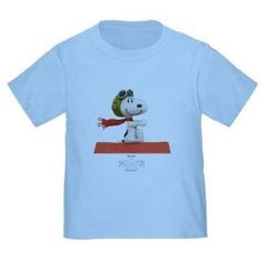 CafePress Flying Ace - The Peanuts Movie Toddler T-Shirt, Blue