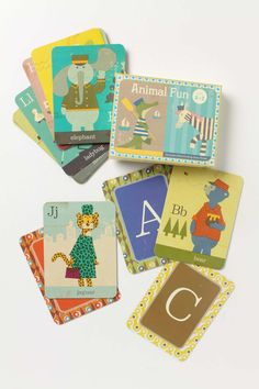 Animal Fun flash cards by Junzo Terada love the vintage look