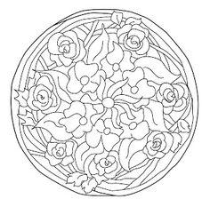 Mandalas Para Pintar: Mandala Art Nouveau
