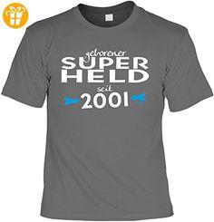 T-Shirt zum 16. Geburtstag geborener Super Held seit 2001 Geschenk zum 16 Geburtstag Geschenkidee 16. Geburtstag 16 Jahre Geburtstagsgeschenk (*Partner-Link)
