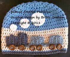 The Original Crochet Train Hat Pattern - Crochet Pattern No.109