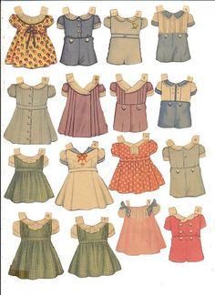 Sweet little paper clothes.