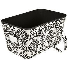 tapered storage bin with handles black home accents httpwww - Decorative Storage Bins