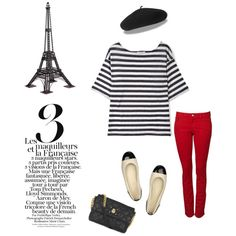 I don't know that it would be possible to channel anything more stereotypically French than this little outfit :)