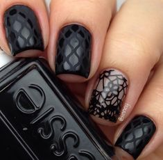 Lace Fishnet Nail Design