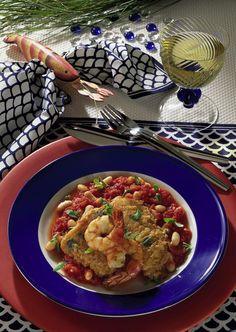 Unser beliebtes Rezept für Fisch auf Tomaten-Bohnen und mehr als 55.000 weitere kostenlose Rezepte auf LECKER.de.