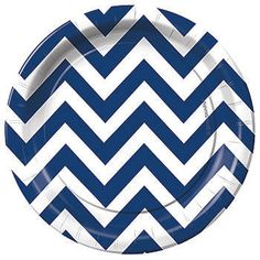 Navy Blue Chevron Dessert Plates  sc 1 st  Pinterest & Navy Blue Chevron Paper Plates and Napkins on Flipboard | Navy Blue ...