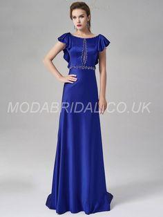 modabridal.co.uk SUPPLIES Fashionable Glamorous & Dramatic Beading Sweep/Brush  Natural Celebrity Prom Floor-Length Zipper-up Dress Long Prom Dresses