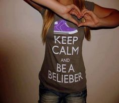 Belieber. I have this shirt:)