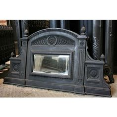 victorian fireplace mantel with mirror | Victorian Over Mantle Mirror