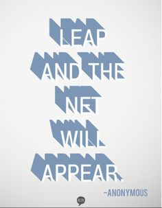 Leap: My One Word for 2013 by The Thinking Closet.