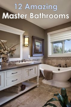 Quiet Amazing Master Bathrooms Designs - Quiet Corner If you're thinking about giving your master bathroom an update or if you're designing one for a new home, then you owe it to yourself to give these 12 incredible master bathroom designs a look! Bathroom Interior, Modern Bathroom, Master Bathrooms, Master Baths, Dream Bathrooms, Small Bathroom, Shower Cabin, Modern Masters, Built In Storage