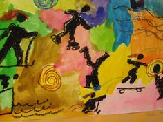 elementary art - action figures, action verbs, olympics