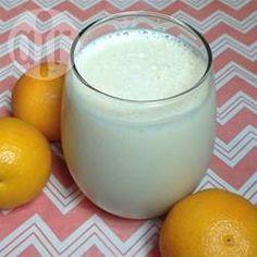 Vitamina de laranja com gengibre @ allrecipes.com.br