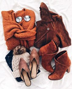 Now that I spent probably too much time finding my dog a Halloween costume - I'm going to personally slap on some cat ears and call it a day. Who's consistently a cat for Halloween (reasoning lands somewhere between basic and lazy) PS this flatlay: if I had to pick a favorite piece I just couldn't. The shoes are ...  and the suede bomber is a year-over-year closet favorite. Find the shoppable details through the @liketoknow.it app, OR the link in my Instagram profile, OR si...
