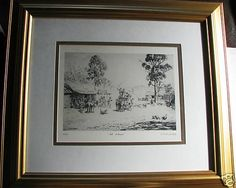Lionel Lindsay limited edition print All Aboard Australia s History Limited Edition Prints, Worlds Largest, Australia, Art Prints, History, Frame, Ebay, Art Impressions, Picture Frame