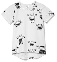 Kukukid   T-shirt off white monsters   Justbymanon