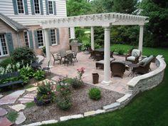 pergola, back yard landscaping -  Stuber Land Design