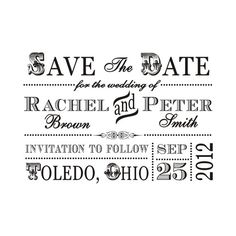 create your own save the date postcards by printing a picture on one side and using