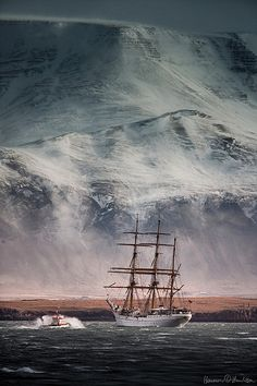 Voyage of the Gorch Fock Things like this that make me feel small, make me feel safe in God's big arms. Visit Reykjavik, Reykjavik Iceland, Classic Sailing, Classic Boat, Exotic Places, Set Sail, Tall Ships, Water Crafts, Sailing Ships