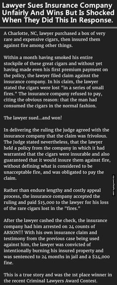 Lawyer Sues Insurance Company Unfairly And Wins But Is Shocked When They Did This In Response. funny crazy story joke humor interesting stories