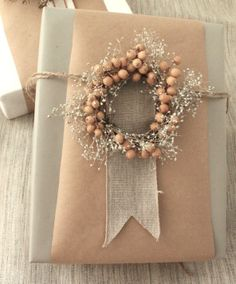Simone LeBlanc | Frosted Wreath Gift Topper
