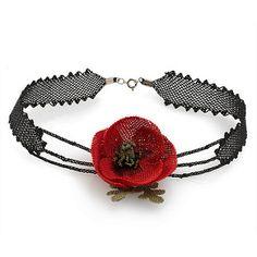 Poppy needle lace necklace | Flickr - Photo Sharing!