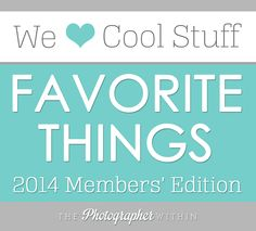 Move over Oprah! Here are the Favorite Things of 2014, as listed by members of The Photographer Within forums.  Really cool gift ideas for both men and women.