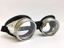 Biker Motorcycle Black and Silver Goggles - Burning Man Music Festival
