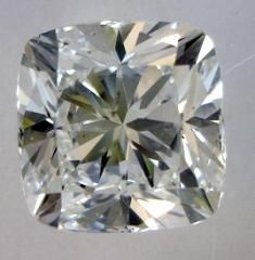 1.05-Carat Cushion Modified Brilliant Cut Diamond  This Fancy-cut E-color, and SI1-clarity diamond comes accompanied by a diamond grading re...