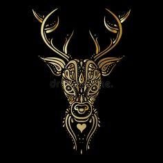 Deer head. Polynesian tattoo style. Deer head. Tribal pattern Polynesian tattoo style. Vector illustration royalty free illustration Polynesian Tattoo Sleeve, Polynesian Tattoo Designs, Sleeve Tattoos, Half Sleeve Tattoo Template, Border Tattoo, Wrist Band Tattoo, Style Tribal, Tribal Sleeve, Tattoo Stencils